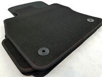 !! NEU !! Original Lengenfelder Fußmatten für Seat Leon 5F / ST / FR + NAHT ROT