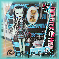 New Monster High Frankie Stein Doll Pet & Diary Classic Original Costume