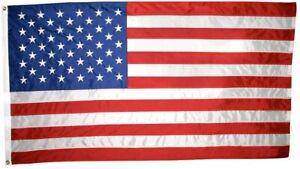 American USA Flag 2x3 Annin 2420 NYL-GLO Embroidered Quality Made USA   Priority