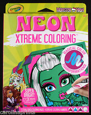 Crayola Monster High Neon Xtreme Coloring Markers Paper - Brand New