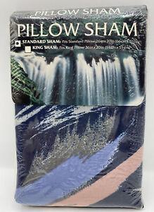 "Vintage 1995 Springs Standard Pillow Sham ""Splash"" K Mart 26"" X 20"" Navy Multi"