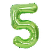 "40"" Giant Green Five Year Old Baby First Birthday 5 Month Number Float Balloon"