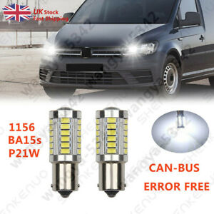 FOR VW CADDY LED DRL P21W CANBUS ERROR FREE XENON WHITE DAY TIME RUNNING LIGHT