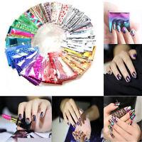 20pcs DIY Nail Art Transfer Foil Sticker Glitter Tip Decal Manicure Accessories