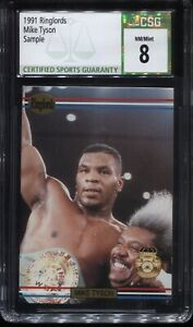 1991 RINGLORDS MIKE TYSON SAMPLE NM-MT CSG  8