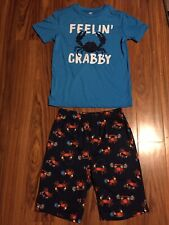 "Old Navy PJ Sleepwear PJs ""Feeling Crabby"" Shirt &Shorts XL (14-16)"