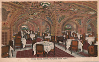 VINTAGE POSTCARD GRILL ROOM AT THE HOTEL McALPIN NEW YORK CITY MAILED 1918