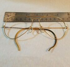 RAY BAN   58[ ]14 GOLD FRAME AVIATOR VINTAGE SUNGLASSES STEAMPUNK made in Italy
