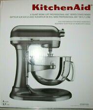 NIB KitchenAid Pro 600 Series 6 QT Bowl Lift Stand Mixer KP26M1X Liquid Graphite