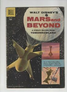 FOUR COLOR #866 MARS AND BEYOND VG, space travel cover, Walt Disney, Dell 1957