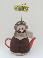 Vintage RAF Pilot Tea Cosy Knitting Pattern to knit your own Biggles tea cosy