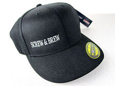 RaRe CANNON Beach Oregon SCREW & BREW Baseball Hat Hardware Beer L/XL NEW w/ TAG