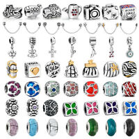 New available silver charms bead For 925 sterling PAN bracelet necklace chain UK