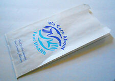 200ct We Care About Your Health, Paper Prescription Pharmacy Bags Medication RX