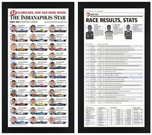 Indianapolis 500 Brick Yard 2021 135k Fans History Newspaper Photo Framed Set!