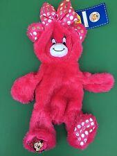 Build a Bear Fuchsia Pink Disney SS Minnie Mouse Bear Plush Toy - UNSTUFFED -NEW