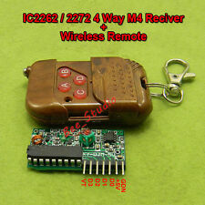 5V 4 Key Wireless signal RF Remote Control 315MHZ Receiver Module for Arduino