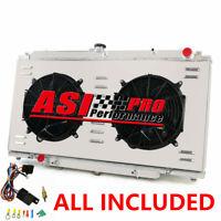 3 ROW Radiator+Shroud Fan FOR Nissan PATROL GU Y61 2.8/3.0 4.2L ZD30 RD28 AT MT