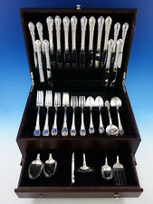 Modern Victorian by Lunt Sterling Silver Flatware Service for 8 Set 63 pc Dinner