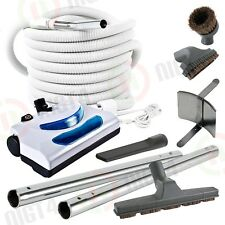 Electric Central Vacuum Powerhead 30' Pigtail Hose & Atachment Vac Kit