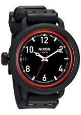 Nixon October Watch (All Black / Red)
