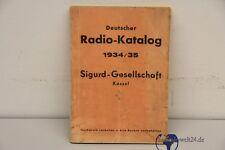 Deutscher Radio Katalog 1934 1935 Sigurd Gesellschaft Kassel