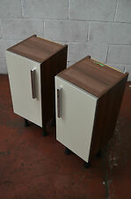 Brown wood and cream bathroom wall floor cabinets storage utility Delivery*