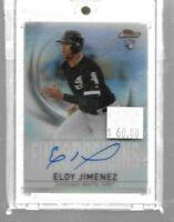 Eloy Jimenez 2019 Topps Finest autograph rookie card -- White Sox