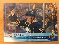 UPPER DECK 2016-2017 SERIES ONE CANVAS RASMUS RISTOLAINEN  HOCKEY CARD C-11