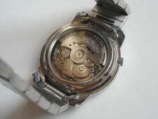SEIKO 5 AUTOMATIC MENS WATCH - STAINLESS STEEL BAND - DAY + DATE - GOOD COND