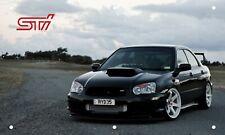 Black Subaru Wrx Sti 3'X5' Vinyl Banner Garage Man Cave Turbo Jdm Stance Awd