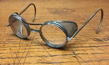 Vintage Saniglass Round Safety Glasses Goggles Steampunk Wire Mesh