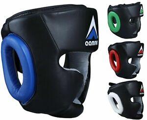 Aamron ® MMA Head Guard Kick Boxing Headgear Martial Art Sparring Helmet HGR-A01