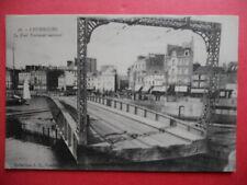 CHERBOURG  :  Le Pont Tournant Ouvrant.