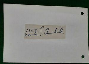 c 1967  ORIGINAL Autograph / Signature  WINSTON S CHURCHILL   MP