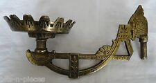 Antique Cast Iron Brass Plated  Lamp Bracket for wall mounting Art Nouveau