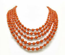 Antique Egg Yolk Amber Bead Necklace 96 inch in length, circa 1920's - 30's
