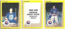 1989-90 Pro Cards 26-card AHL Springfield Indians Hockey Team Set Jeff Hackett