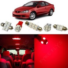 9x Red LED Interior Lights Package Kit for 2002-2006 Acura RSX +Tool AR1R
