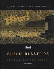 2000 BUELL P3 BLAST MOTORCYCLE SERVICE MANUAL  99492-00Y