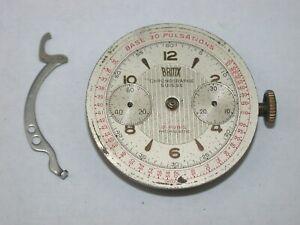 Valjoux 92 Men's Vintage 2-Register Chronograph Wristwatch Movement. 82M