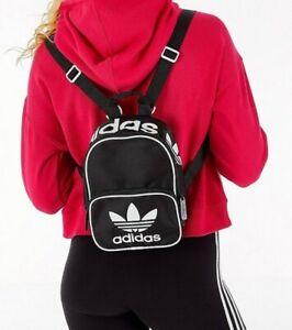 adidas Originals Santiago Mini Backpack Black/White, Travel/Sports Bag