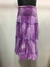 Tiered Boho Gypsy Dress/Skirt Purple Tie Dyed For Ages 6-8yrs .