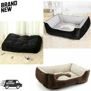 Deluxe Soft Dog Bed Pet Warm Basket Fleece Lining Cushion Puppy Cat