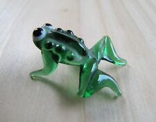 Vintage Miniature Glass Animal, Murano Frog Figure