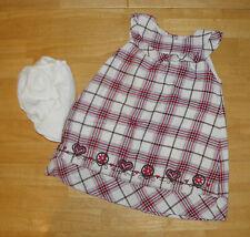 GYMBOREE ALPINE SWEETIE RED PLAID HEART  DRESS GIRLS 2T