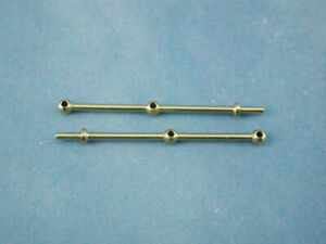 Model boat fitting 2 Hole Brass Rail Stanchion Ball Type 30mm 66230 pack 10