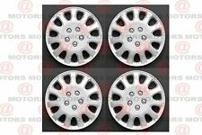 """Set Of 4 Silver Lacquer Wheel Hub Caps R14 """" Universal Fit Standard Luxury New"""