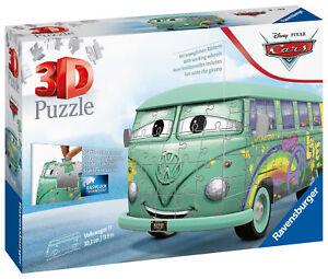 11185 Ravensburger Disney Pixar Cars Filmore VW Camper Van 3D Jigsaw Puzzle 162p