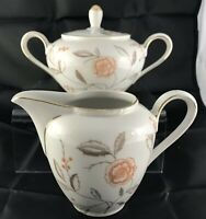 Winterling Bavaria Creamer Sugar Lidded Vintage Germany Floral Numbered 42 China